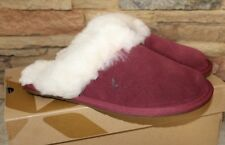 NIB UGG KOOLABURRA Slip On Suede Shearling Slippers BURGUNDY 6 7 8 9 10 11