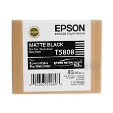 EPSON T5808 Matte Black Ink per Epson Stylus PRO 3800 3880 2014 Autentico/Originale