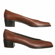 AMALFI Vintage Brown Leather Pumps - Womens Size 8.5 AAA - Made in Italy