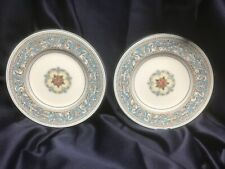 """Set Of 5 Wedgwood Covent Garden Green Trim 10/"""" Dinner Plate Made in England EC"""