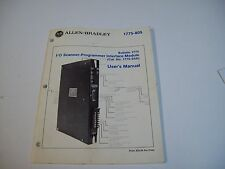 Allen-Bradley 955089-52 I/O Scanner-Programmer 1775 User Manual - Free Shipping