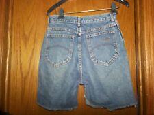 "Vtg 80s Chic Jeans Womens Cutoff Shorts Mom Jeans High Waist Frayed hem 28"" W"