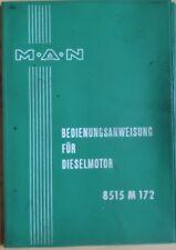 Si manovra istruzione per Dieselmotor 8515 M 172 manuale