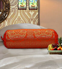 Bolster Round Cylinder Embroidery Flower Long Cushion Throw Pillow Adorn 16X50cm Cushions