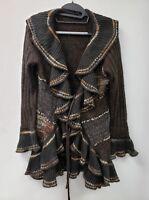 NEW NWOT~Lisa International~Cardigan Sweater~SWEATERCOAT DUSTER~ ART TO WEAR~S