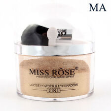 Smooth Loose Powder With Brush Hilighter Glitter Face Eyeshadow Contour Palette Gold