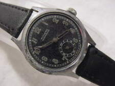 Vintage large antique WWII World War II MILITARY HIALEAH mens watch