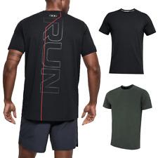 Under Armour Mens Run Back Graphic Short Sleeve Running Training T Shirt