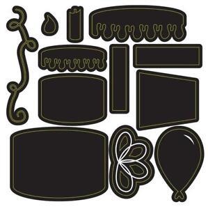 Darice Craft Dies Build A BIRTHDAY CAKE Set 12pc Die Cut Emboss Stencil 30094117