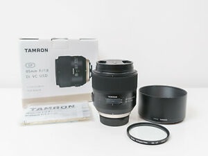 Tamron 85mm F1.8 Di VC USD SP Lens for Nikon F Mount ~Close to New