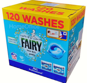 120 Pods Fairy Non-Bio Pods Washing Detergent Tablets Capsules Pod 2 x 60