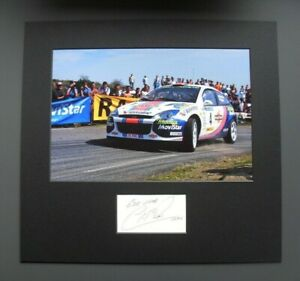 COLIN MCRAE GENUINE HAND SIGNED 2001 WORLD RALLY FORD FOCUS PHOTO MOUNT COA