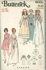 Vintage Bridal Dress Sewing Patterns B6000 Size 12