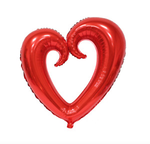 Big Hollow Heart Shape Foil Balloons Wedding Decoration Birthday Valentines Day