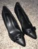 Catherines Shoes Black Poise Heel Pumps Womens Plus 8 9 10 11 12 Wide NIB