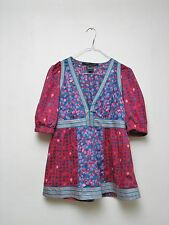Marc Jacobs Blumenmuster Top Bluse Tunika US4 34 S