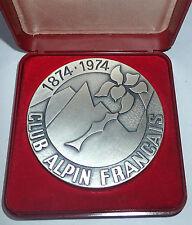 Medaille commémorative centenaire club alpin francais BRONZE (394J)