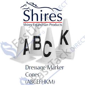 MARKER CONES | Shires Dressage Cones | 8 Pack | Arena Menage Letters | ABCEFHKM