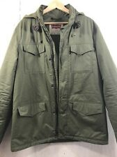 Levi's Military Expedition Hood Mid Long Zip Parka Coat Jacket Large Levi Mens