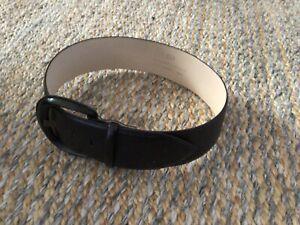 CUE Sz S Black LEATHER Thick BUCKLE Belt
