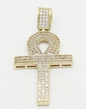 """10k Stamped Yellow Gold Ankh Pendant 5.3 Grams 2.0"""" L"""