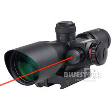 Tactical Red Dot Laser Sight 2.5~10X 40mm Scope Reflex Red / Green Reticle Mount