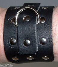 Die schwarzen 10 Stück Lederarmbänder + Nieten mit Metallring Angebot Ebay Lwph