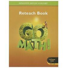 GO MATH! RETEACH BOOK GRADE 5