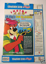 Kellogg's Rice Krispies Box w YO YOGI 3-D GLASSES Promo