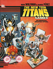 "The New Teen Titans ""Games"" Hardcover signed by Perez & Wolfman 1st print DC"