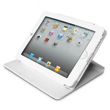 White Leather Flip Case w Stand for Apple The new iPad 2 3 4