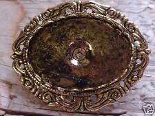 Horz Oval Brooch Antique Gold Plate 22x30  Bezel 667