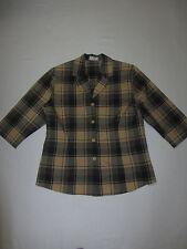 Karierte Damen-Blusen 3/4 Arm Damenblusen, - tops & -shirts aus Polyester