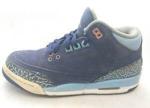 Nike Air Jordan Retro 3 Sneakers 441140-506 Youth Size 7Y Purple