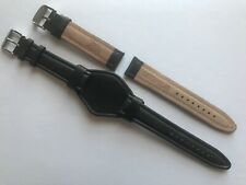 Caterpillar 20mm Black Leather Watch Strap SS Buckle