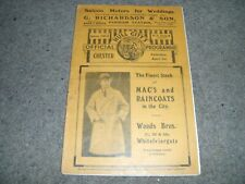 RARE VINTAGE PRE WAR PROGRAMME HULL CITY V CHESTER 1ST APRIL 1933