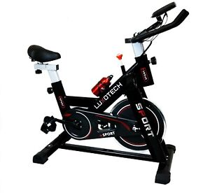 LUXOTECH SPIN BIKE 11KG FLYWHEEL TRAINING HOME CYCLING BICYCLE FITNESS EXERCISE