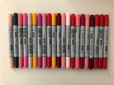 NEW! Lot of 21 Copic Ciao Markers! No Duplicates! Mix Color Tones Copic Sketch