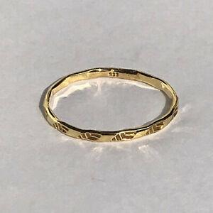 Goldring Gold 333 Gelbgold Damenring gepunzt Gr.50 ca.15,9 mm schön