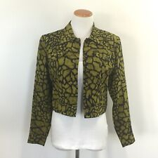 MaggyL Womens Sz 6P 100% Silk Animal Print Short Jacket Great Look 6 Petite