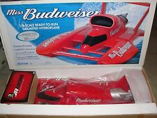 NOS NEW MISS BUDWEISER 1/8 SCALE GAS RC BOAT ZENOAH PROBOAT RARE BOX PRB2250