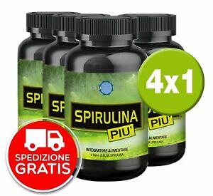 SPIRULINA PIU integratore PLUS concentrato. OFFERTA 4 CONFEZIONI Maxi Fit alga