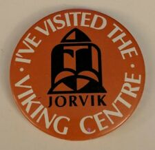 Vintage I've Visited the Jorvik Viking Center Souvenir Pin Button York, England