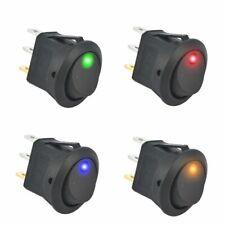 OTOTEC 5 x 12 V//20 A Interrupteur Auto Marche//Arr/êt SPST Interrupteur /à Bascule LED Rouge pour Voiture Camion Van