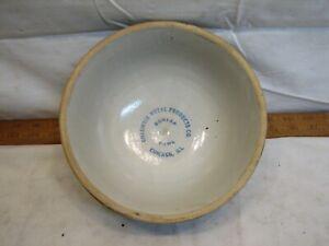 Columbia Metal Products Advertising Dunlap Bowl Crock Chicago Stoneware