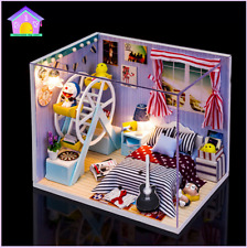 DIY Handcraft Miniature Dolls House - Light&Cover Dollhouse - UK Stock Fast Post