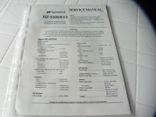 Sansui Factory Original Service Manual RZ-5500AV II Stereo Receiver