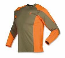 Browning Upland NTS Long Sleeve Shirt, Brown/Blaze, 2XL Hunting Shooting Sports