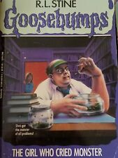 GOOSEBUMPS book R L STINE original cover series #8 THE GIRL WHO CRIED MONSTER