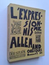 """"""" L' expressionnisme allemand """" dans la revue Obliques, 1976"""